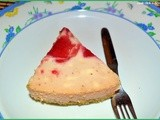 Egg less starwberry cheese cake