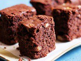 Eggless brownies recipe with whole wheat flour
