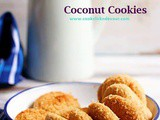 Eggless Coconut Cookies Recipe (With Video)