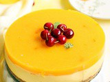 Eggless mango cheesecake recipe, how to make no bake mango cheesecake recipe