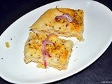 Herbs and onion focaccia