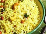 Lemon rice recipe | How to make south Indian lemon rice recipe