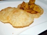 Luchi-Dee fried flat bread with all purpise flour/maida
