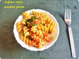 Masala pasta recipe Indian style | vegetable pasta indian style recipe