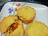 Meatless pies-Vegetarian version of meat pies (baking eggless challenge July)