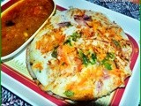 Onion carrot uthappam