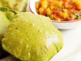 Palak poori recipe | How to make palak poori