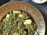 Palak pulao recipe | how to make palak pulao, spinach pulao recipe
