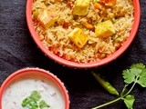 Paneer butter masala pulao recipe | How to make paneer butter masala pulao