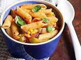 Pasta Primavera Recipe Video (Without Cheese)