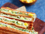 Spinach corn sandwich recipe| Grilled corn spinach sandwich
