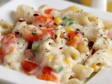 White Sauce Pasta Recipe | Pasta In White Sauce