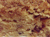 Eggless Dates and Apple cake with streusel topping