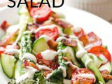 Easy Grilled Romaine Salad With Bacon And Ranch Dressing