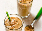 Healthy Avocado Smoothie with Cacao and Collagen