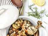 Lemon Herb Roasted Chicken and Fennel | Wicked Spatula