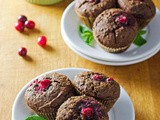 Paleo Chocolate Cranberry Muffins