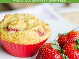 Strawberry Muffins (Paleo, Gluten Free)