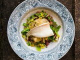 Brill Poached In Beer With Cabbage & Pancetta