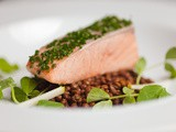 Confit of Salmon with Puy Lentils & Apple Salad