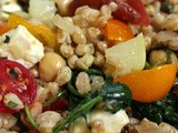 Farro Salad with Tomatoes and Feta