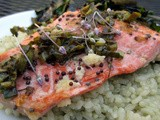 Ginger-Rubbed Salmon with Mustard Seeds and Sorrel
