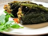 Goat Cheese and Quinoa Stuffed Poblano Peppers