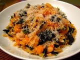 Orzotto with Braised Kale and Butternut Squash