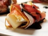 Prosciutto-Wrapped Walnuts with Goat Cheese and Pear