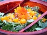 Purslane Salad with Tomatoes and Arugula