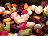 Roasted Beets and Radishes with Caramelized Fennel