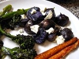 Roasted Rosemary Potatoes with Goat Cheese and Sage