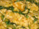 Roasted Squash and Fava Green Risotto with Lemon