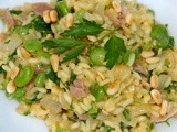 Saffron Risotto with Fava Beans and Prosciutto