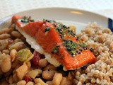 Slow-baked Salmon with White Beans and Fennel
