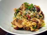 Smoked Bacon and Mushroom Risotto