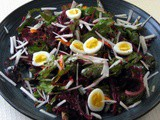 Spring Salad with Beet and Black Radish