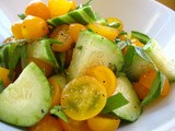 Summer Salad with Cucumber and Cherry Tomatoes
