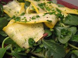 Summertime Salad with Yellow Squash and Purslane