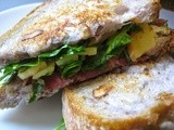 Toasted Prosciutto and Brie Sandwiches with Sauteed Pear and Thyme