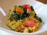 Tomato Risotto with Spinach and Saffron
