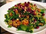 Warm Quinoa Salad with Roasted Kabocha and Pomegranate