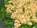 Wilted Greens Salad with Tuna