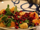 Winter Watercress Salad with Mandarins and Pomegranate