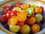Wordless Wednesday: Sauteed Cherry Tomatoes, Fresh Baby Corn, and Parsley over Pan-Seared Salmon
