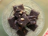 Chocolate Nut Fudge ~ My guest post for Manju Nair