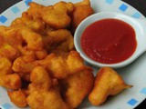 Cauliflower Whole Wheat Fritters/Gobi Atta Pakora