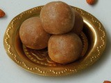 Coconut Almond Laddoos/Coconut Laddu with Almonds