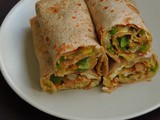Egg &Capsicum Chappathi Roll/Egg Bellpepper Wrap