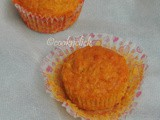 Eggless Butterless Carrot & Orange Muffins